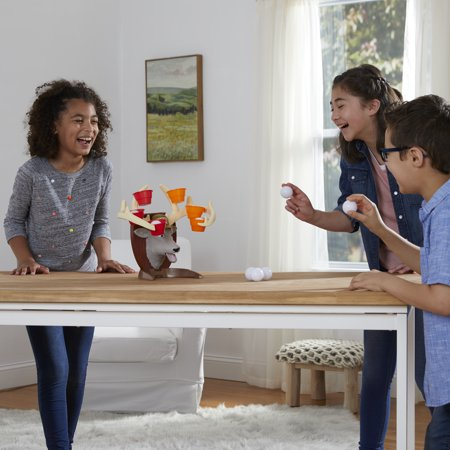 Deer Pong Game, Talking Deer Head and Music, Family Game for Ages 8+
