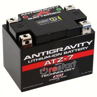 Antigravity ATZ-7-RS Lithium Ion Battery BMS and Re-Start Technology - 150cca 1.32 Pounds 7Ah Motorcycle Battery - Replaces YTZ5S - YTZ7S - YTZ8V - YTX4L-BS - YTX5L-BS - YTX7L-BS - 3 Yr Warranty