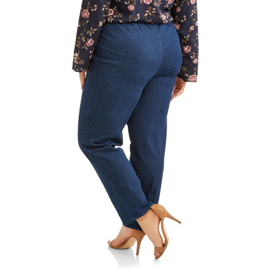 f72b5fe081a Just My Size - Women s Plus-Size 2-Pocket Pull-On Stretch Woven ...