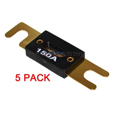 5 x High Quality Gold Plated 150 Amp 150A Car Audio ANL Fuse (5/pack) New ()