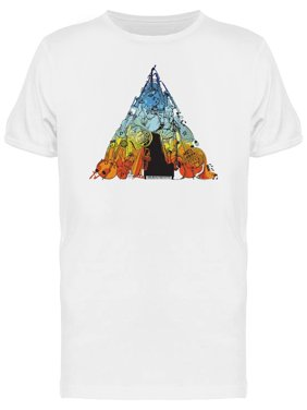 Music Instruments Triangle Art Tee Men's -Image by Shutterstock