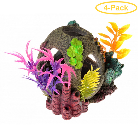 Exotic Environments Sunken Orb Floral Ornament 1 Count - Pack of 4