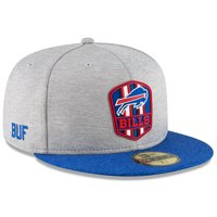 Buffalo Bills New Era 2018 NFL Sideline Road Official 59FIFTY Fitted Hat - Heather Gray/Royal