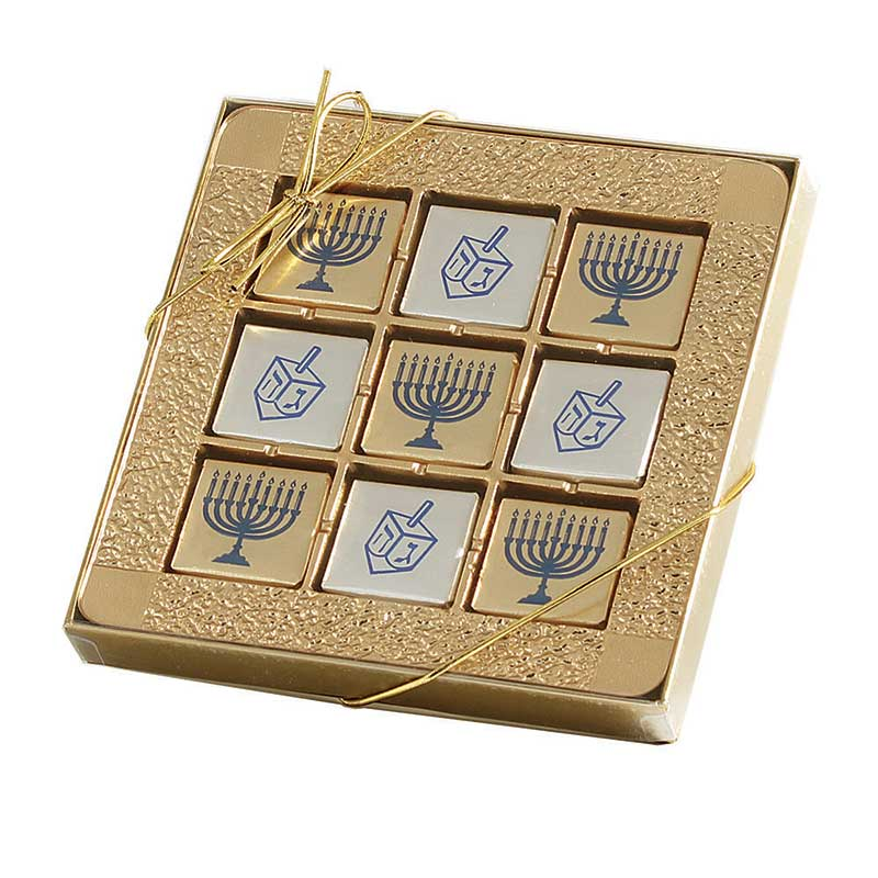 Chanukah Chocolate Gift Pack With 9 Mint Squares