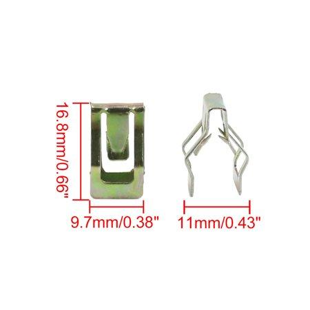 Car Dashboard Retainer Console Instrument Panel Metal Clips 11 x 16.8mm 30pcs - image 1 de 3