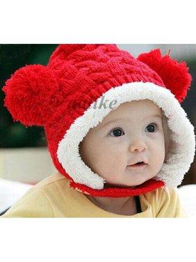 ff6e5318235 Product Image Baby Kids Boy Girl Winter Keep Warm Hat Beanie Ear protectors  Fur Ball Earflap Cap