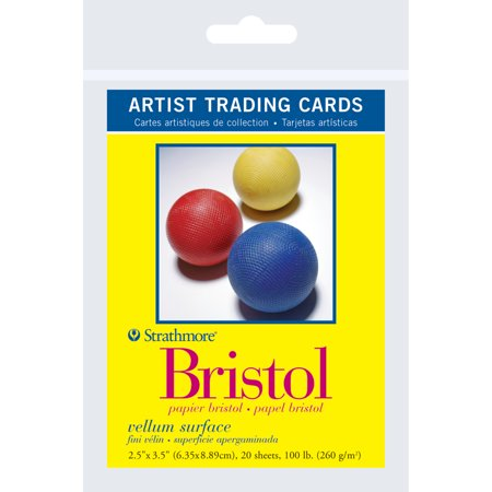 Strathmore Artist Trading Card Pack, Bristol Paper Vellum, 20 Sheets