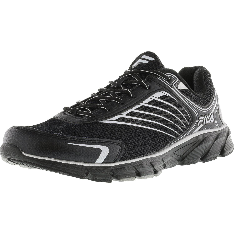 Fila Men's Memory Maranello 2 Dark Silver   Black Vibrant Orange Ankle-High Fabric Running Shoe 14M by Fila