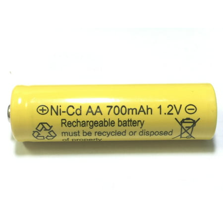 700mah AA NiCd 1.2v Rechargeable Batteries Garden Solar Ni-Cd Light LED S (Pack of (Ni Cd Aa 700mah 7-2 V Battery)