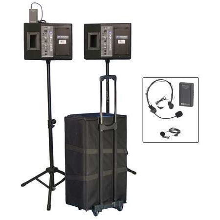 AMPLIVOX SOUND SYSTEMS SW227 Public Address System, Built In Speakers