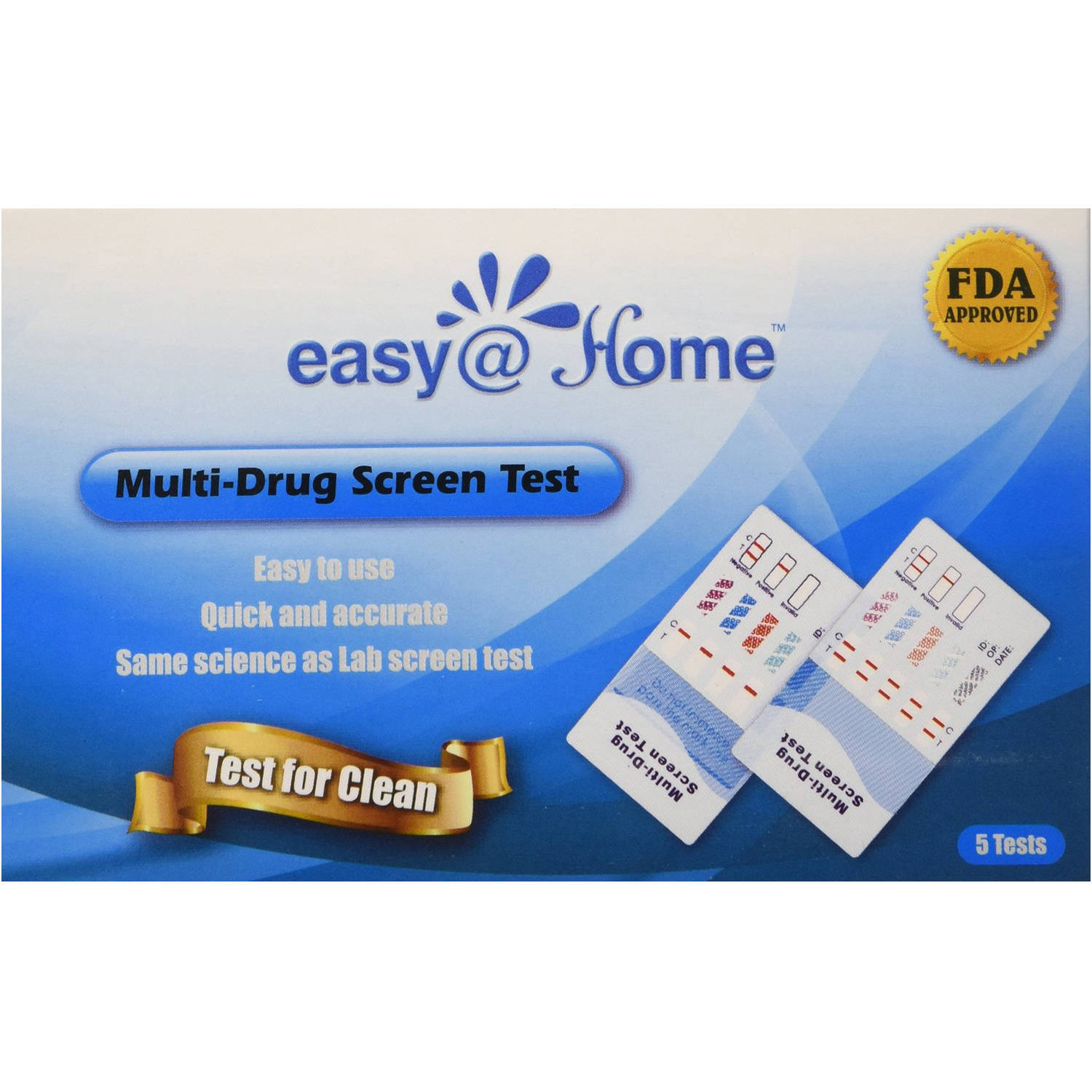 Easy@Home Multi-Drug Screen Test, #EDOAP-254, 5 count