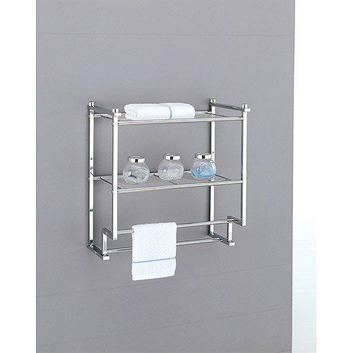 Neu Home Metro 2-Tier Wall Mounting Rack With Towel Bars by Organize It All