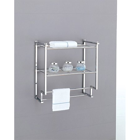 Neu Home Metro 2-Tier Wall Mounting Rack With Towel Bars