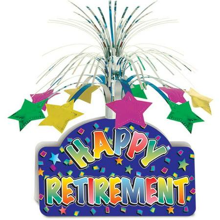 Happy Retirement Centerpiece Party Accessory (1 count) (1/Pkg) - Retirement Centerpieces