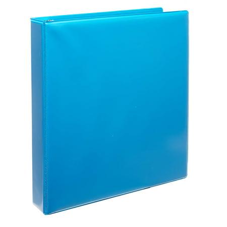 "Pen + Gear Durable View 1.5"" 3-Ring Binder, 8.5"" x 11"", Blue"