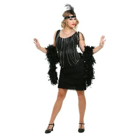 Black Fringe 1920's Flapper Costume - 1920 Costumes