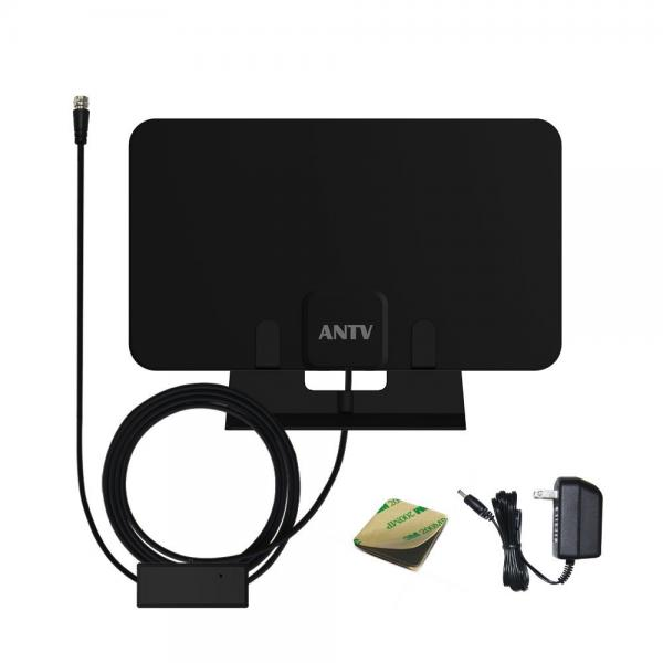 ANTV Digital Amplifier Indoor TV Antenna 50 Miles Range 360 Degree Reception with Table Stand and 10ft Coaxial Cable