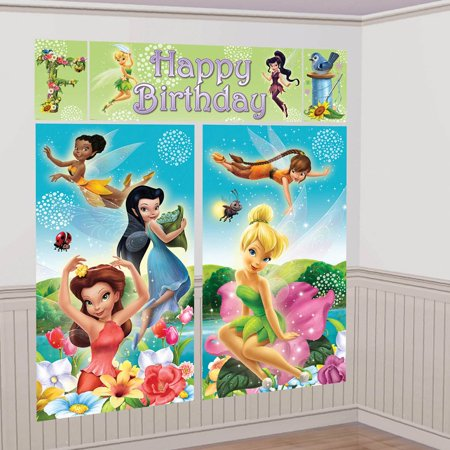 Tinkerbell Scene Setter Wall Decorating Kit (Each) - Party Supplies