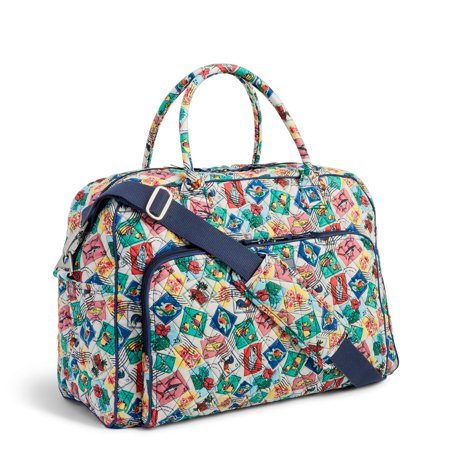 a1f3b4ee2b Vera Bradley Weekender Travel Bag Cuban Stamps - Walmart.com
