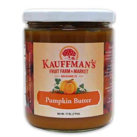Homemade Pumpkin (Kauffman's Homemade Kosher, Non-GMO, Gluten Free Pumpkin Butter, 17 Oz. Jar (Pack of 2 Jars))