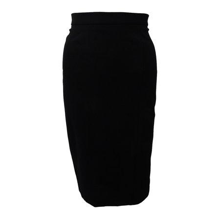 KASPER Womens Black Knee Length Pencil Wear To Work Skirt  Size: -