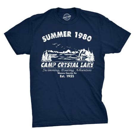 mens summer 1980 mens funny t shirts camping shirt vintage horror novelty