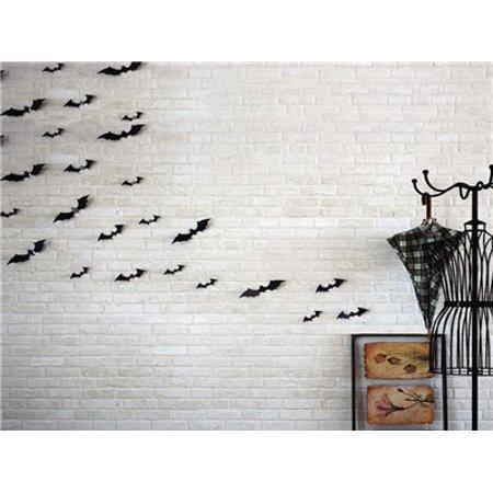 12pcs Black 3D DIY PVC Bat Wall Sticker Decal Home Halloween Decoration](Home Diy Halloween)