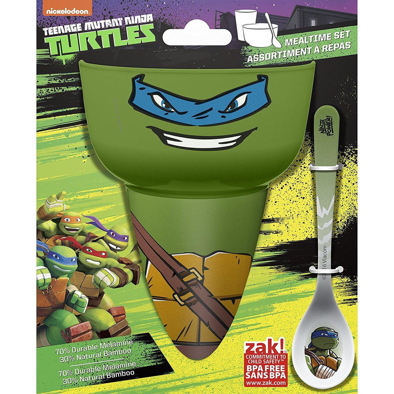 Zak Designs 3 Piece Bowl/Tumbler/Spoon Featuring Leonardo