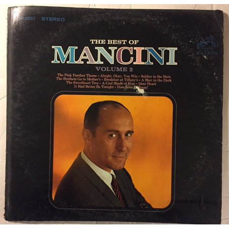 The Best Of Mancini Volume 2 Henry Mancini, His Orchestra And Chorus 1966