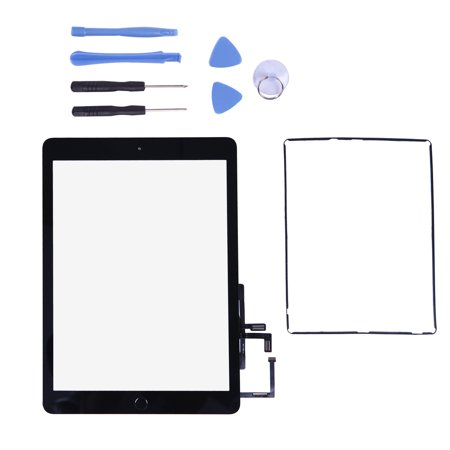 Touch Screen Digitizer for 2017 iPad 9.7 - Front Glass Replacement with Home Button & Tool Repair Kit (A1822, A1823) -