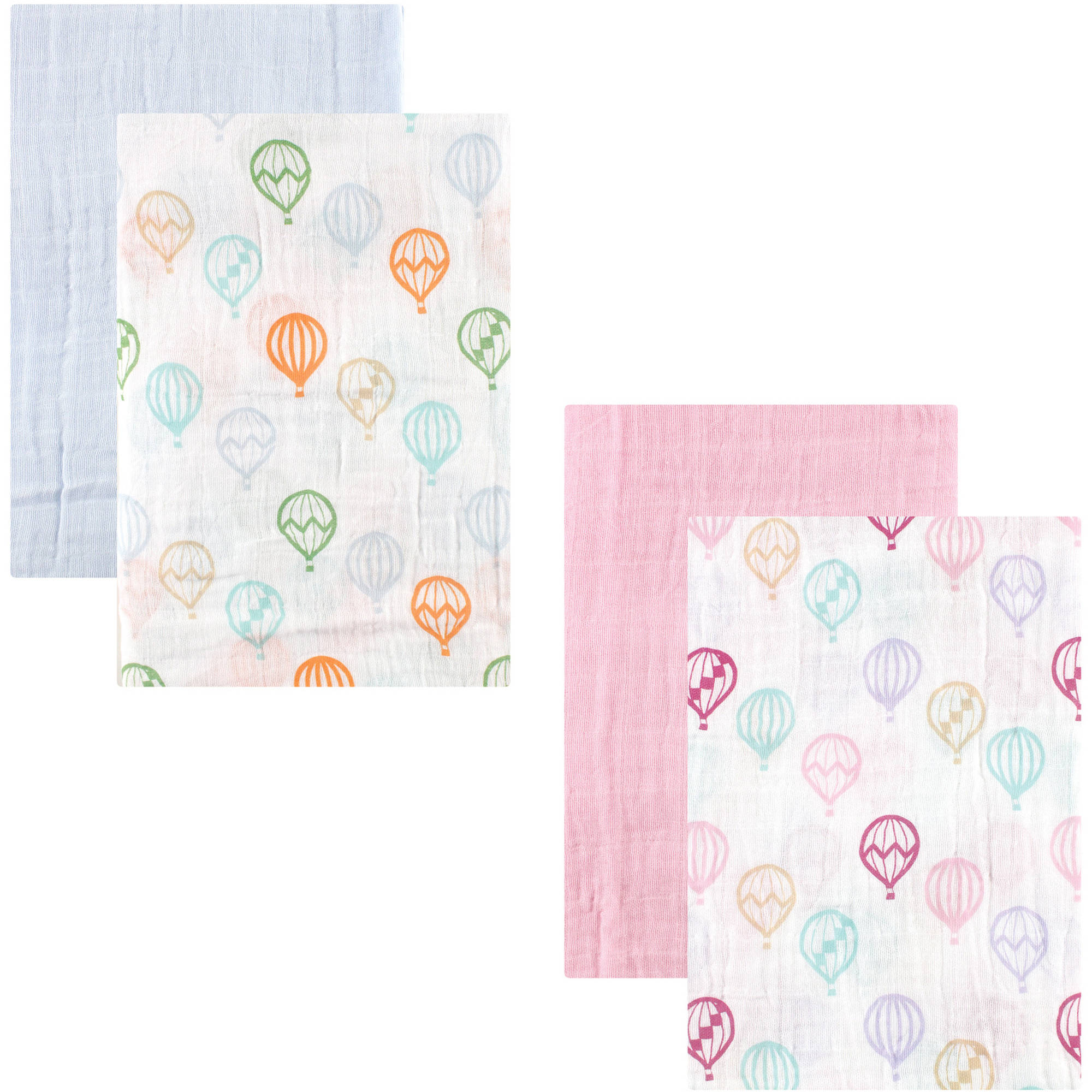Hudson Baby Swaddle Blanket Muslin 2pk Collection