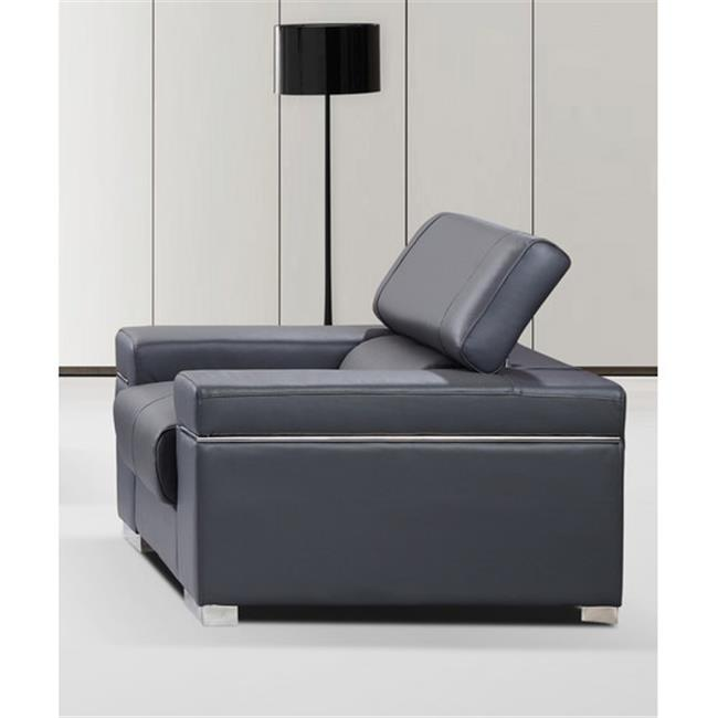 JandM Furniture 176551113-C-GR Soho Chair - Grey Leather