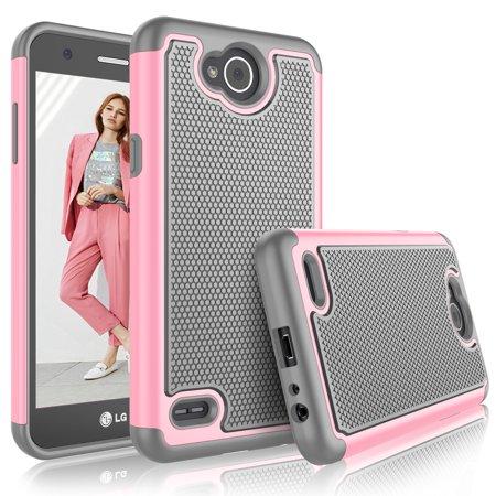 LG X Power 2 Case, LG Fiesta LTE Case For Girls, LG V7 Cute Cover, Tekcoo [Tmajor] Shock Absorbing [Baby Pink] Rubber Plastic Scratch Resistant Defender Bumper Rugged Hard Cases - Halloween Fiestas 2017
