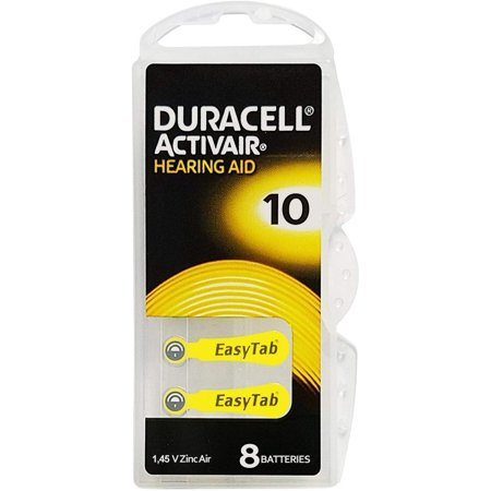 240 Cells - Duracell Hearing Aid Battery With Easy-Fit Tab, Size 10 - image 1 of 1