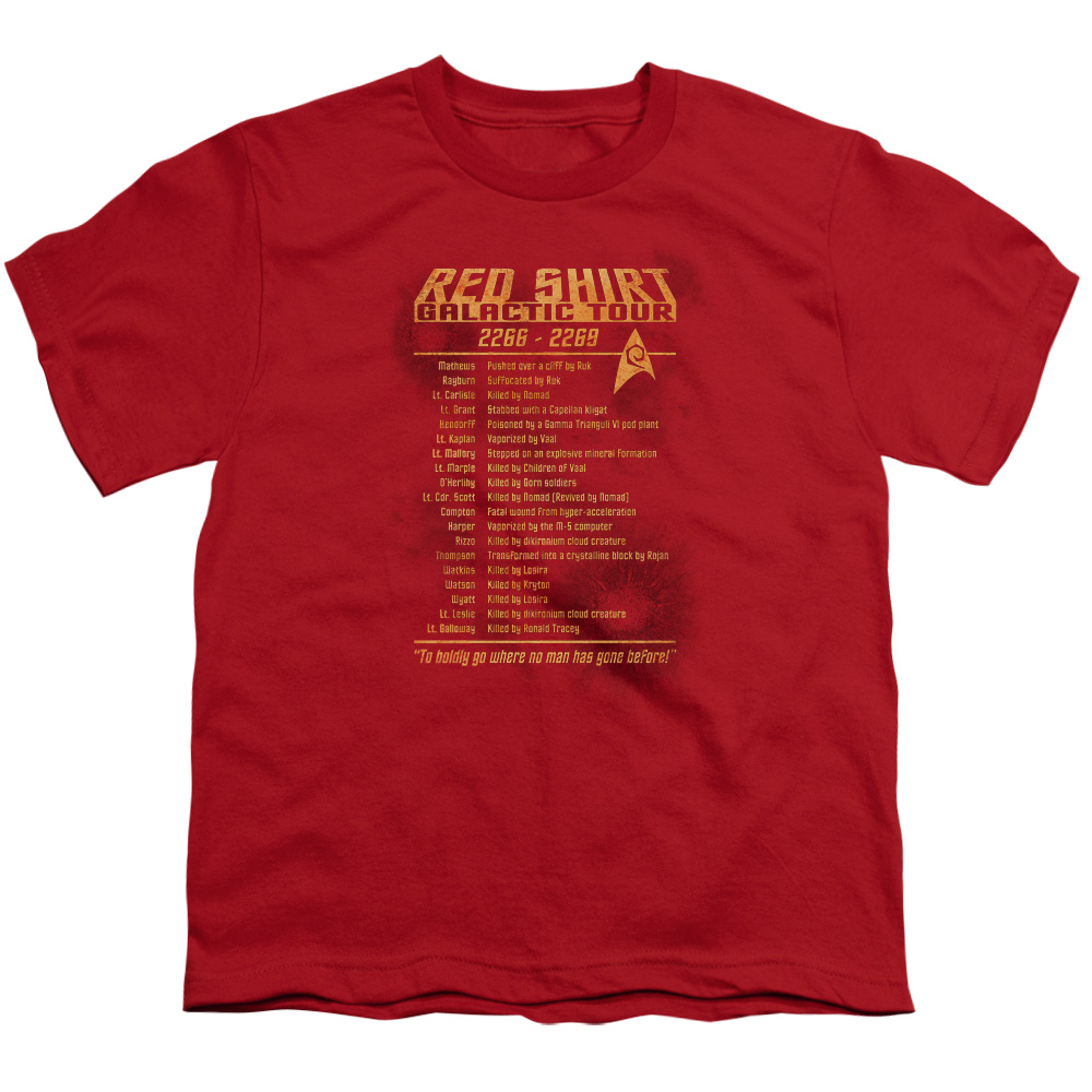 Star Trek/Red Shirt Tour   S/S Youth 18/1   Red     Cbs953