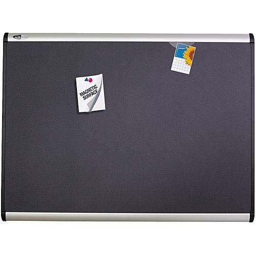 "Quartet Prestige Plus Magnetic Fabric Bulletin Board, 48"" x 36"", Aluminum Frame"