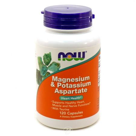 Now Foods - Magnesium and Potassium Aspartate, 120 Capsules, Pack of 2