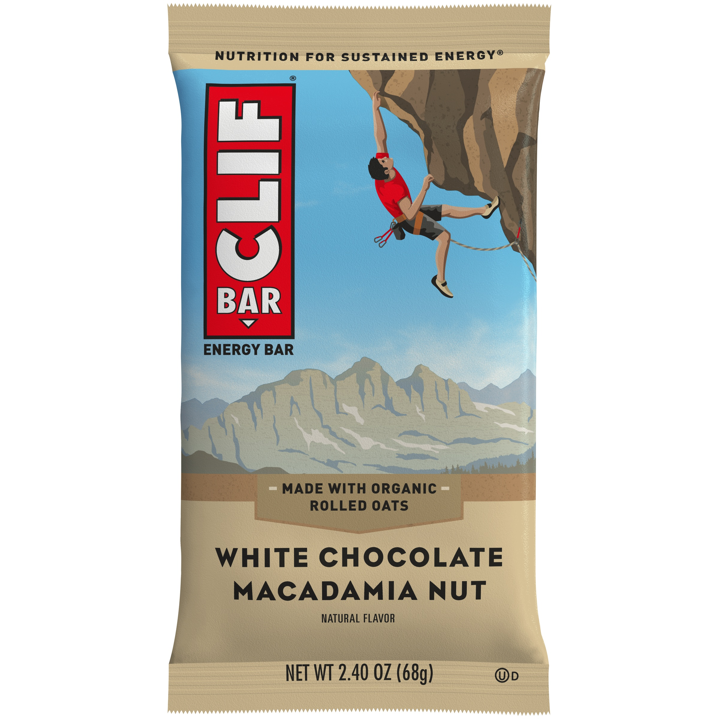 Clif Bar® White Chocolate Macadamia Nut Energy Bar 2.4 oz. Wrapper