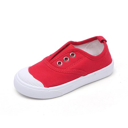 Outtop Toddler Children Boys Girls Solid Cute Sneaker Kids Shoes Baby Canvas Shoes](Cute Childrens Shoes)