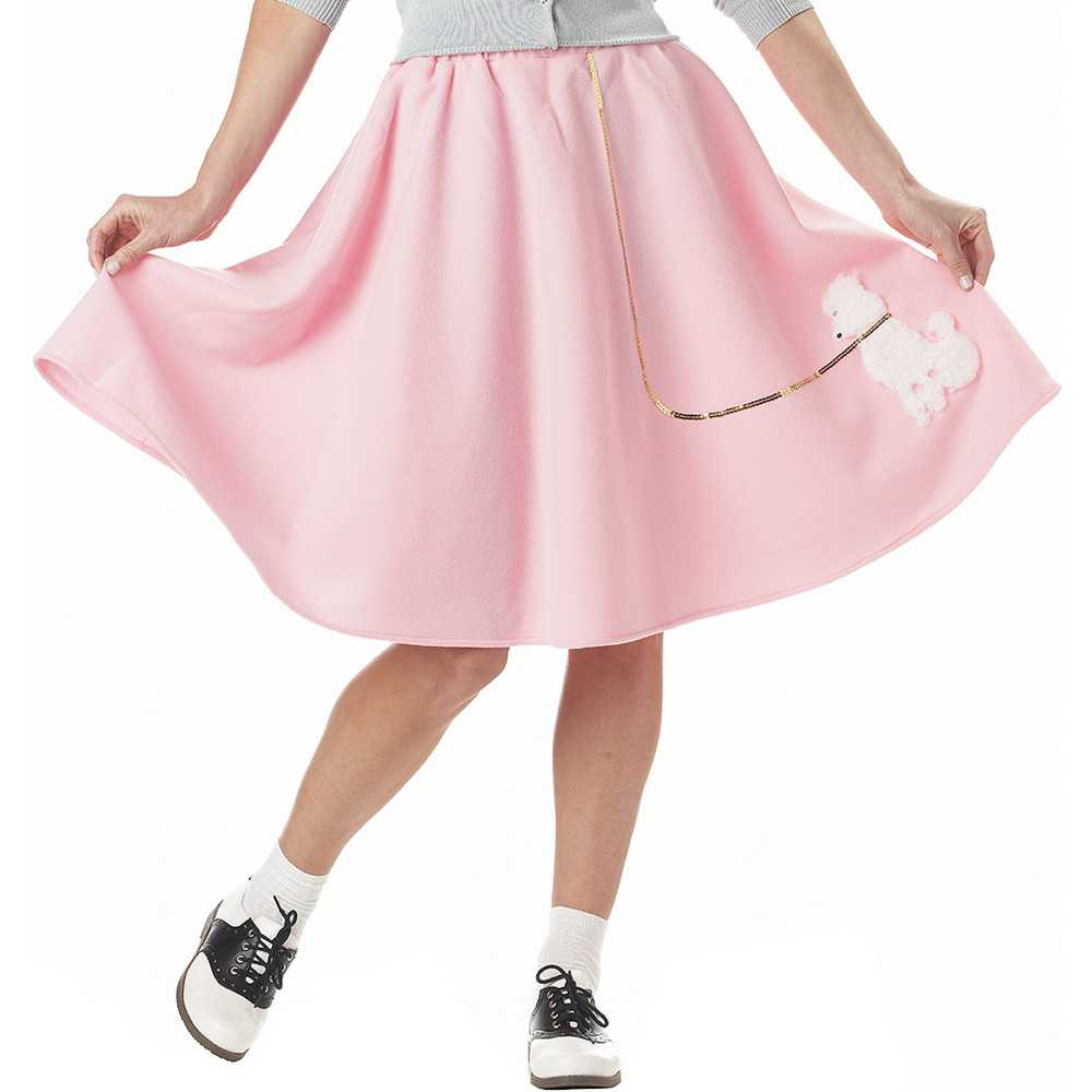 50s s pink poodle skirt walmart