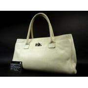491734c9a17683 Chanel Ivory Reissue Cc Caviar Cerf Executive 216076 White Tote Bag