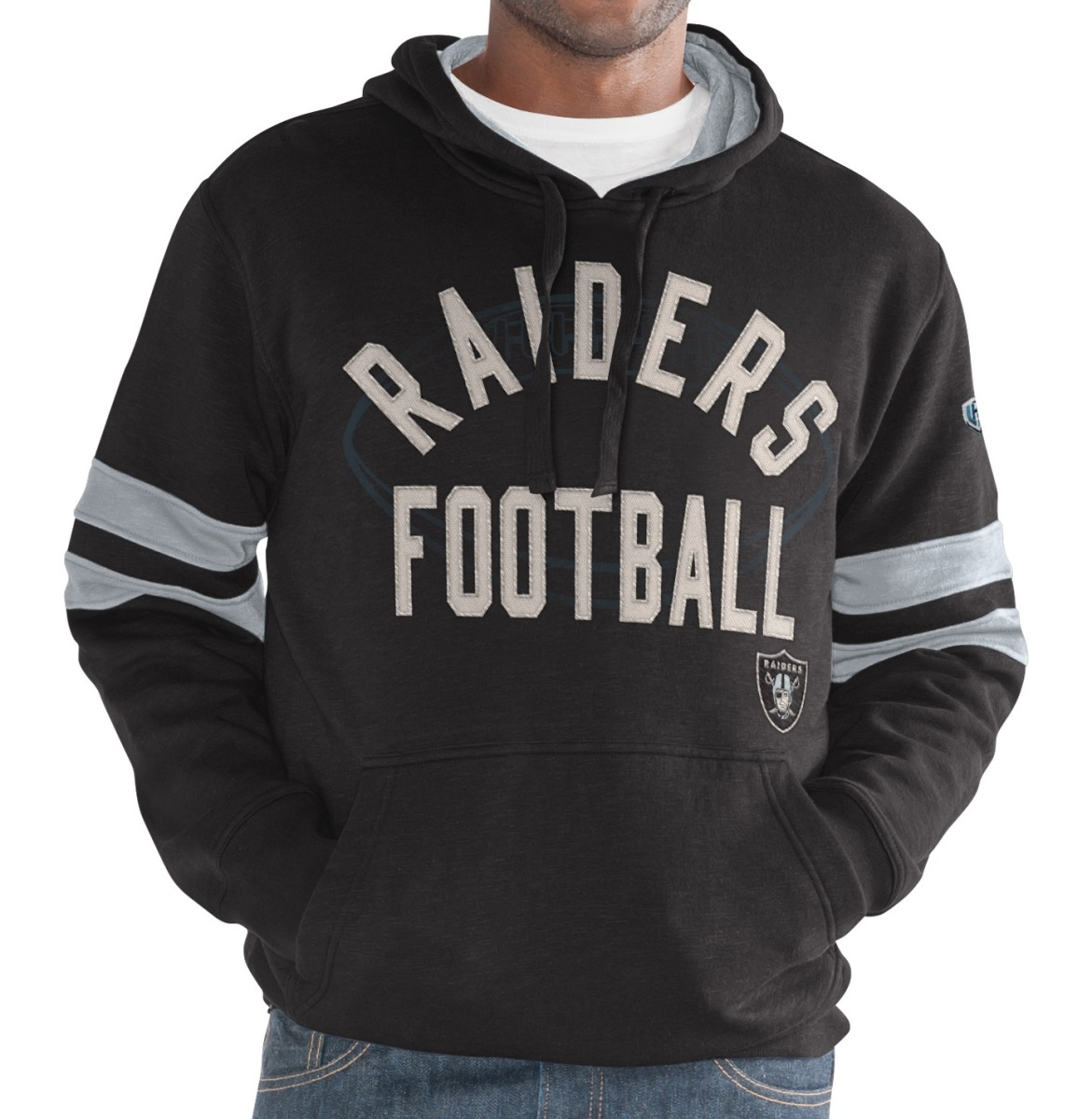 "Oakland Raiders NFL Men's G-III ""Striker"" Pullover Hooded Fleece Sweatshirt"