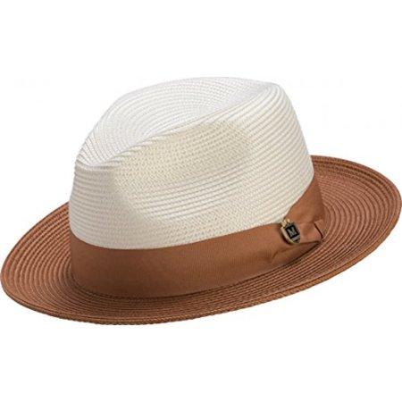Montique Two Tone Wide Brim Pinch Hat H47 (S, -