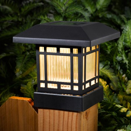 westinghouse 2 piece eaton solar post light set. Black Bedroom Furniture Sets. Home Design Ideas