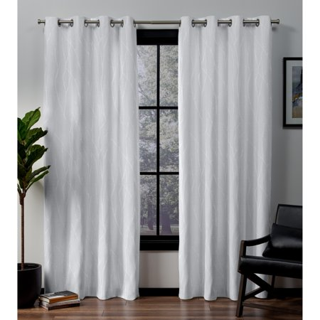 Exclusive Home Curtains 2 Pack Forest Hill Woven Blackout Grommet Top Curtain