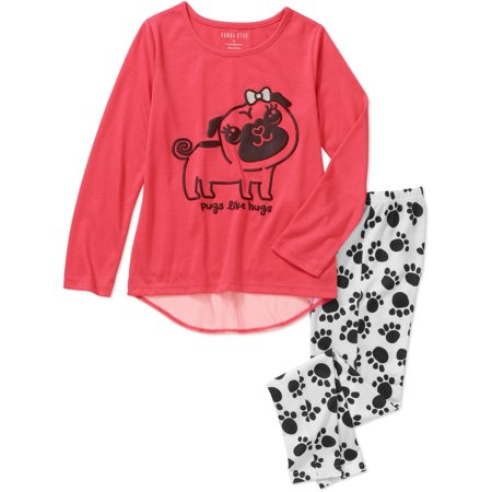 Girls' Graphic 2pc Sleepwear Legging Set - Cute Dresses For Girls 10-12
