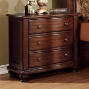 Furniture of America Meveena 3 Drawer Nightstand