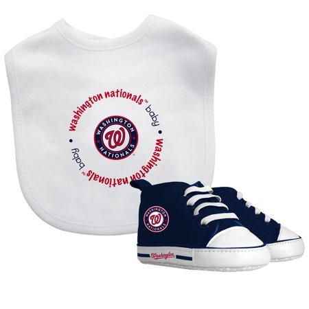 MLB Washington Nationals Bib & Prewalker Baby Gift Set