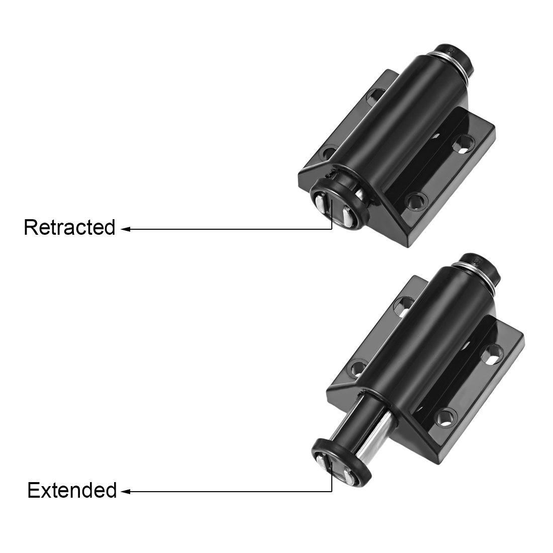 Details about  /8-10mm Glass Door Magnetic Touch Catch Latch Plastic White with Clamp Set