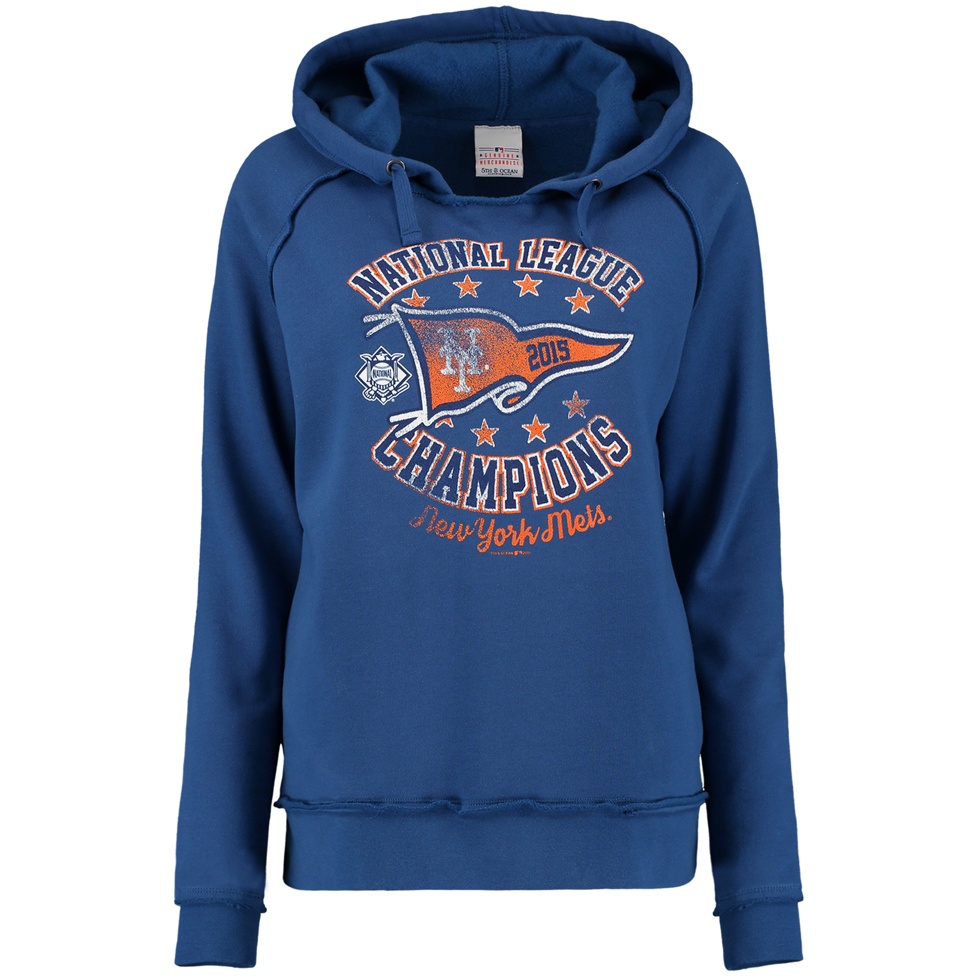 New York Mets 5th & Ocean by New Era Women's 2015 National League Champions Pullover Hoodie - Royal - L
